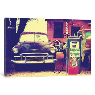 iCanvas U.S. Route 66 Fill-Up Station by Philippe Hugonnard Canvas Print