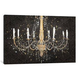 iCanvas Grand Chandelier Black I by James Wiens Canvas Print