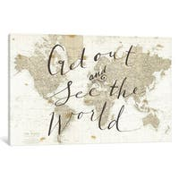 iCanvas Get Out and See the World by Sara Zieve Miller Canvas Print