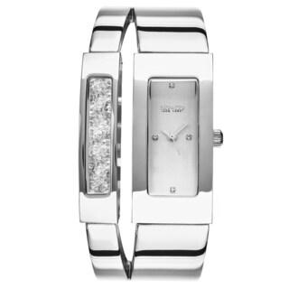 SO&CO New York Women's SoHo Stainless Steel Crystal Bangle Quartz Watch