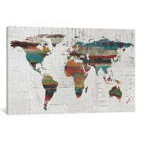 iCanvas Painted World Map IV by Irena Orlov Canvas Print