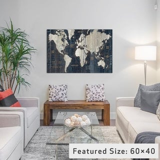 iCanvas Old World Map Blue by Wild Apple Portfolio Canvas Print