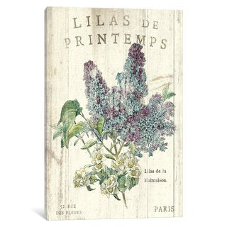 iCanvas Lilas de Printemps  by Sue Schlabach Canvas Print