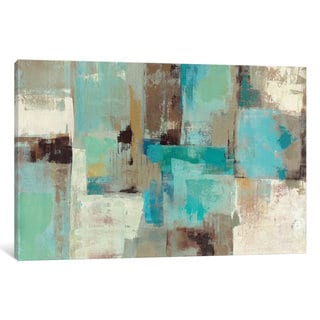 iCanvas Teal and Aqua Reflections #2 by Silvia Vassileva Canvas Print