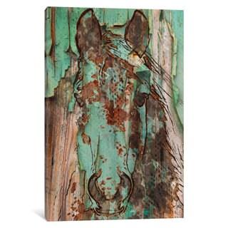 iCanvas Green Horse by Irena Orlov Canvas Print