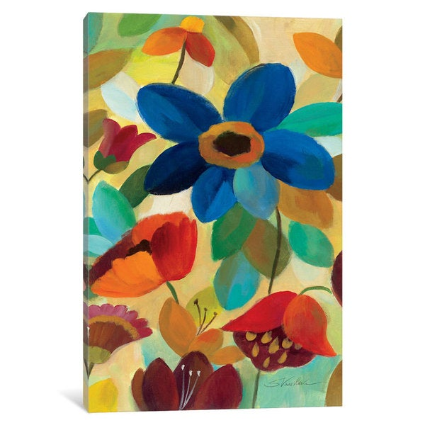 iCanvas Summer Floral Panel I by Silvia Vassileva Canvas Print