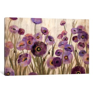 iCanvas Pink and Purple Flowers  by Silvia Vassileva Canvas Print
