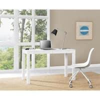 Porch & Den Alley White XL Desk with 2 Drawers