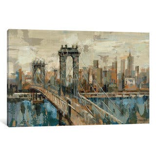iCanvas New York View by Silvia Vassileva Canvas Print