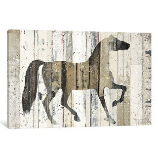 iCanvas Dark Horse by Michael Mullan Canvas Print