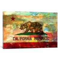 iCanvas Pattern Fade California Flag by iCanvas Canvas Print