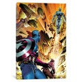 iCanvas Avengers Assemble: Captain America Watching Ultron Lift Off Classic Panel Art by Marvel Comics Canvas Print