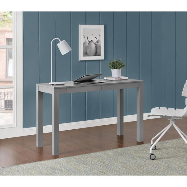 Ameriwood Home Parsons Grey Xl Desk With 2 Drawers Free