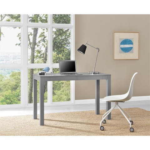 Porch & Den Alley Grey XL Desk with 2 Drawers