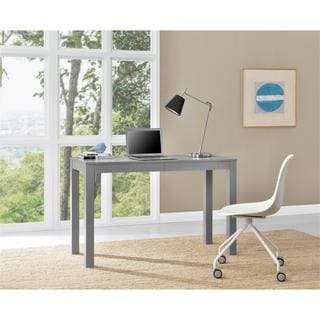 Altra Parsons Grey XL Desk with 2 Drawers