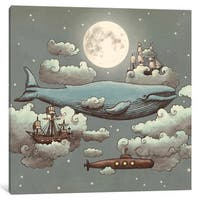 iCanvas Ocean Meets Sky Square #1 by Terry Fan Canvas Print