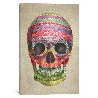 iCanvas Skull by Terry Fan Canvas Print