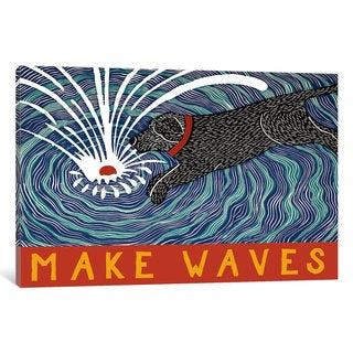 iCanvas Make Waves With Banner by Stephen Huneck Canvas Print
