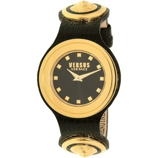 Versus by Versace Women's Carnaby Street SCG020016 Black Leather Quartz Watch