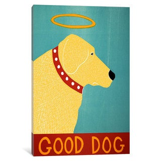 iCanvas Good Dog Yellow by Stephen Huneck Canvas Print