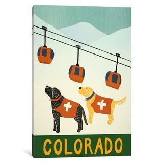 iCanvas Colorado Ski Patrol by Stephen Huneck Canvas Print