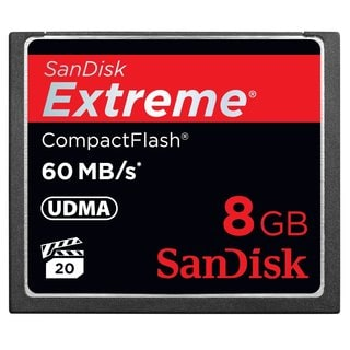 SanDisk Extreme CompactFlash 8GB Memory Card (Certified Refurbished)