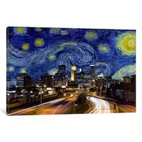 iCanvas Minneapolis, Minnesota Starry Night Skyline by iCanvas Canvas Print