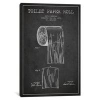 iCanvas Toilet Paper Charcoal Patent Blueprint by Aged Pixel Canvas Print