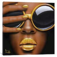 iCanvas Goldilips by Scott Rohlfs Canvas Print