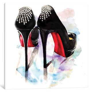 iCanvas Christian Louboutin Classic Heels by Rongrong DeVoe Canvas Print