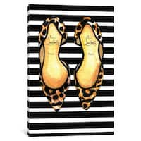 iCanvas Christian Louboutin And Strips by Rongrong DeVoe Canvas Print