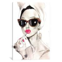 iCanvas Audrey Hepurn by Rongrong DeVoe Canvas Print