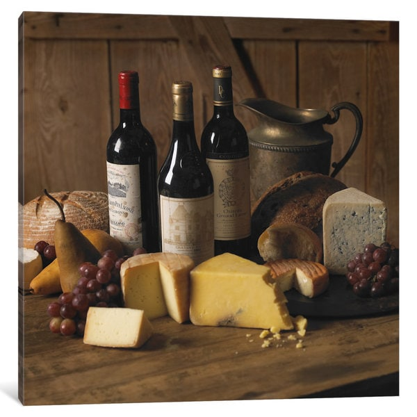 iCanvas Wine & Cheese by Michael Harrison Canvas Print
