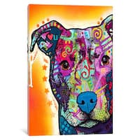 iCanvas Heart U Pit Bull by Dean Russo Canvas Print