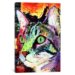 iCanvas Curiosity Cat by Dean Russo Canvas Print