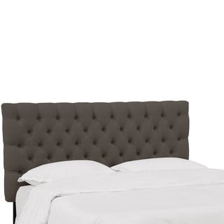 Skyline Furniture Linen Slate Tufted Headboard