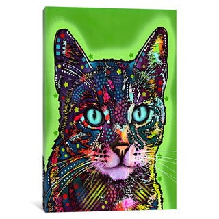iCanvas Watchful Cat by Dean Russo Canvas Print