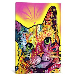 iCanvas Tilt Cat by Dean Russo Canvas Print