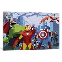 iCanvas Avengers Assemble Geometric by Marvel Comics Canvas Print