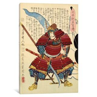 iCanvas Samurai with Naginata by Unknown Artist Canvas Print