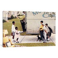 iCanvas Moving In (New Kids In The Neighborhood) by Norman Rockwell Canvas Print