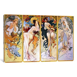 iCanvas The Four Seasons (1895) by Alphonse Mucha Canvas Print