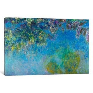 iCanvas Wisteria by Claude Monet Canvas Print