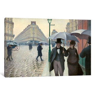 iCanvas Paris Street: A Rainy Day by Gustave Caillebotte Canvas Print