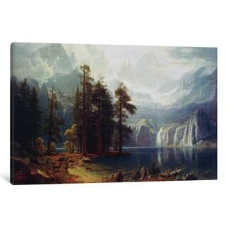 iCanvas Sierra Nevada In California by Albert Bierstadt Canvas Print
