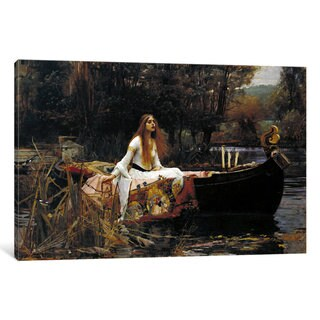 iCanvas The Lady of Shalott by John William Waterhouse Canvas Print