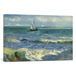iCanvas Seascape Near Les Saintes Maries de la Mer by Vincent van Gogh Canvas Print