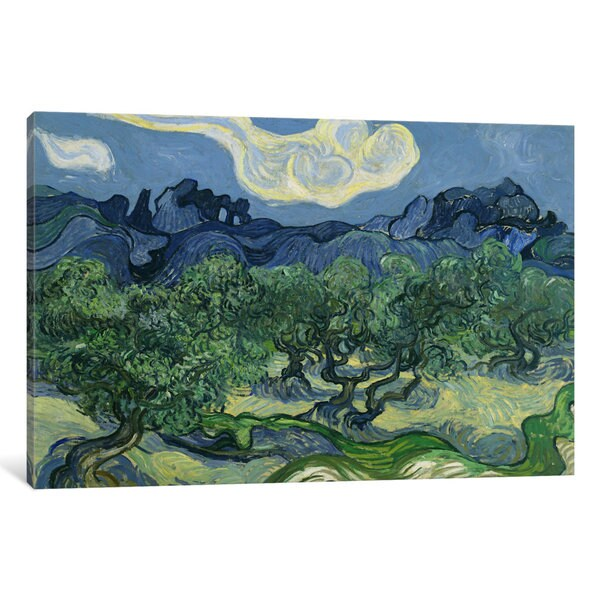 iCanvas Olive Trees with the Alpilles in the Background by Vincent van Gogh Canvas Print