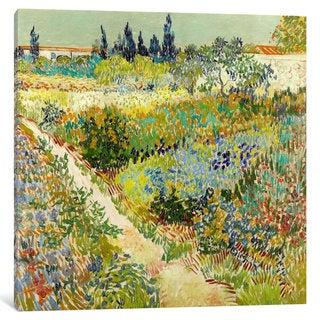 iCanvas The Garden at Arles by Vincent van Gogh Canvas Print