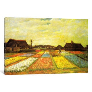 iCanvas Tulpenfelder (Tulip Fields) by Vincent van Gogh Canvas Print